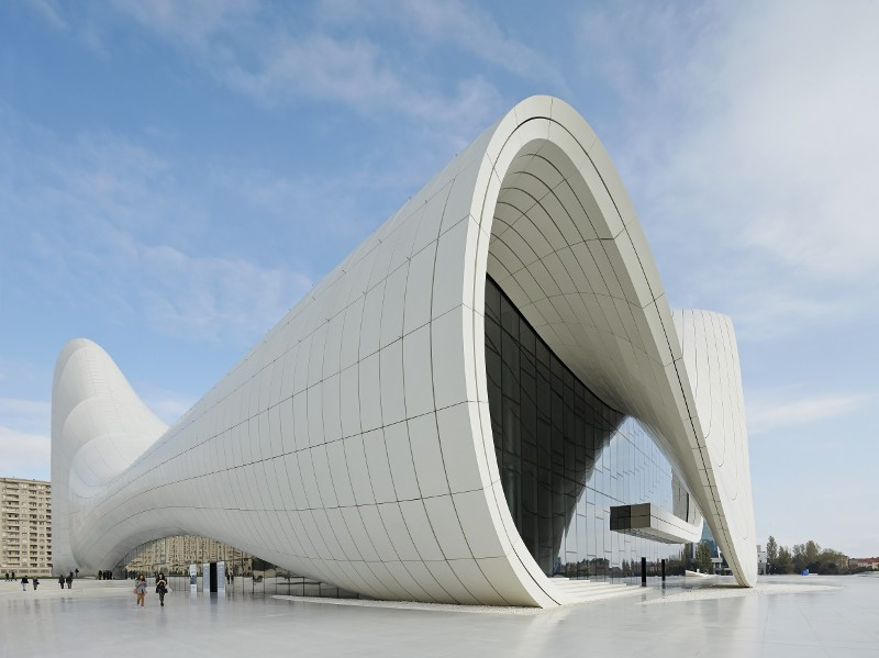 Zaha hadid on designing the new heydar aliyev center in for Architect search