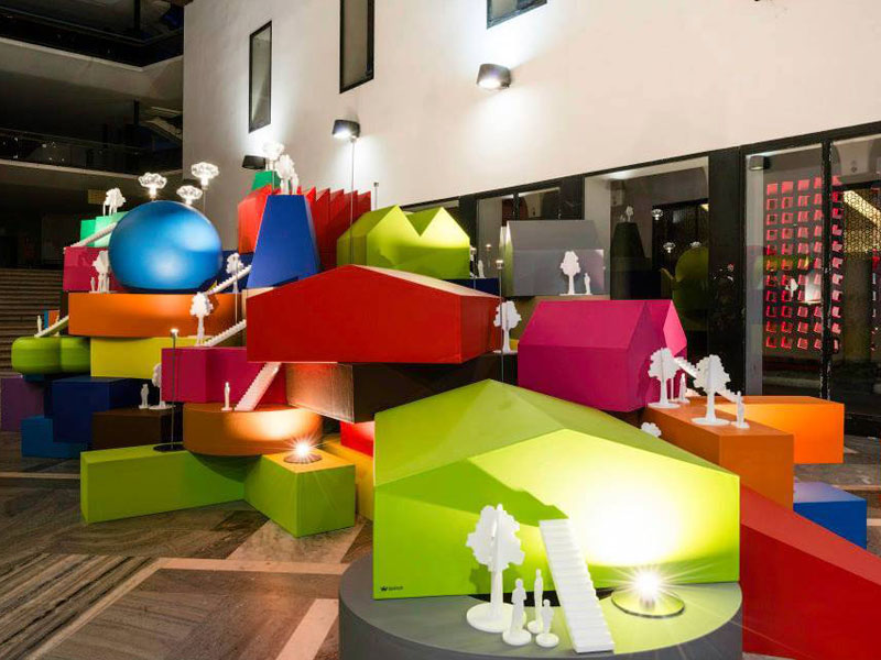 MVRDV unveils playful house-shaped cushions at Milan