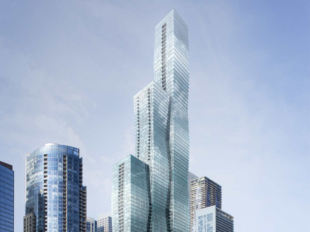 Chicago's third tallest skyscraper inspired by crystal formations