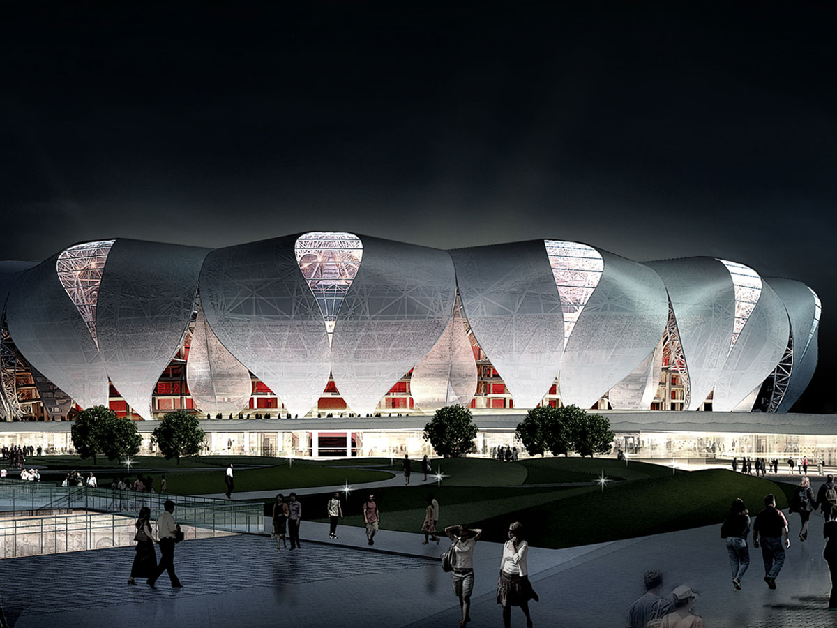 Hangzhou Olympic Sports Centre blooms with steel efficient design