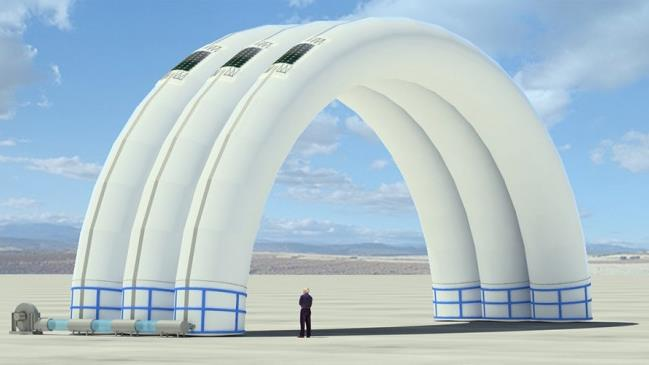 Inflatable Disaster Shelters : Buildair designs inflatable self sustaining emergency