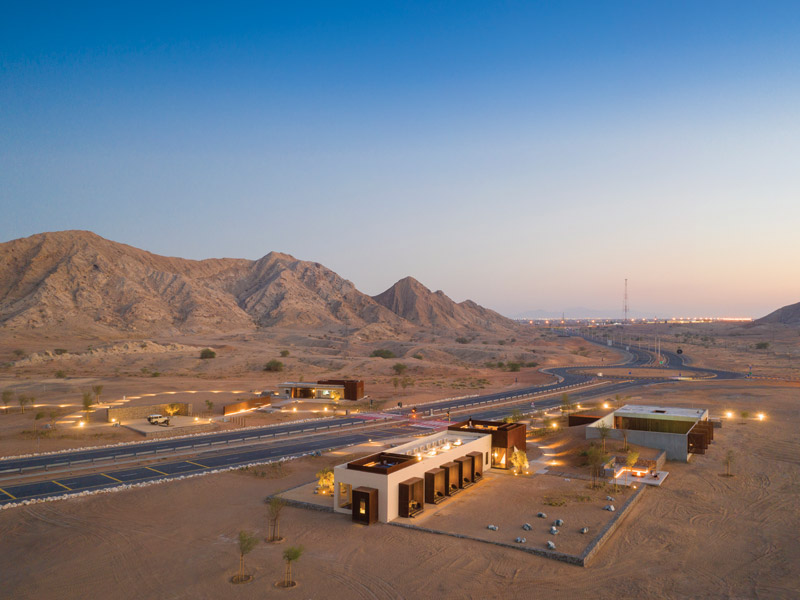 ANARCHITECT's Al Faya Lodge is a boutique hotel in the Sharjah Desert
