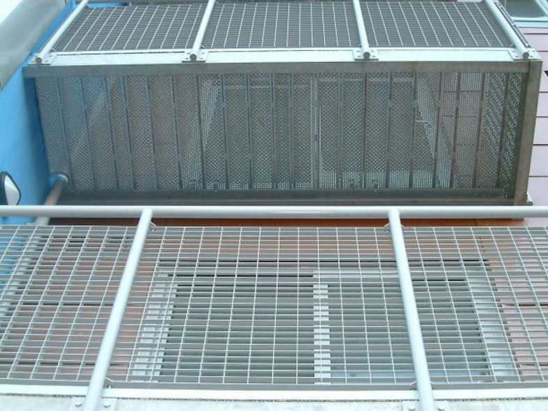 Galvanised Steel Balcony with Mesh Infill Panels