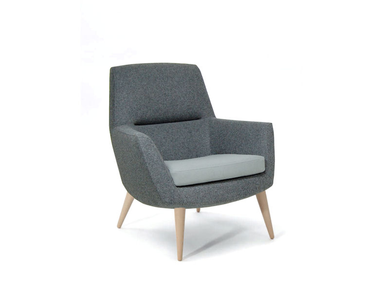 Breathe - High Back Chair - Wooden Legs