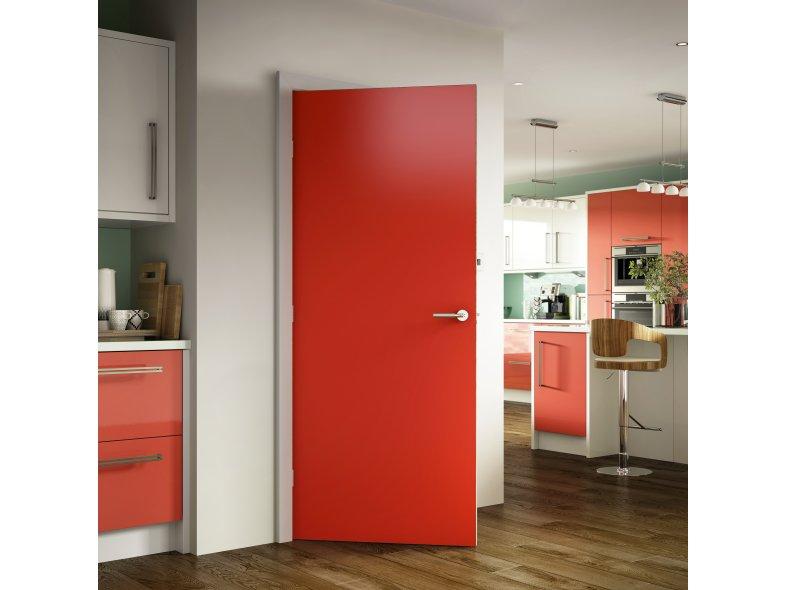 Hpl door hpl flush panel wood door for hotel project in for Kitchen set hpl
