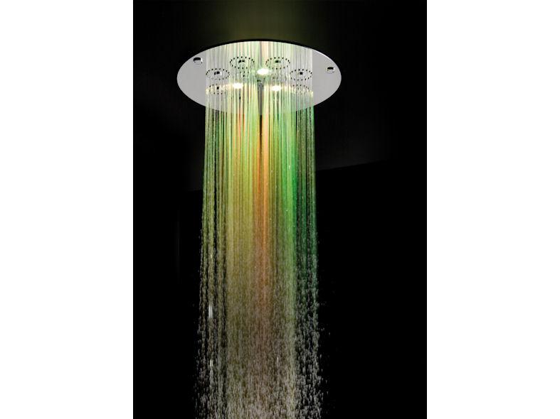 Zucchetti Shower Plus round shower head chromotherapy