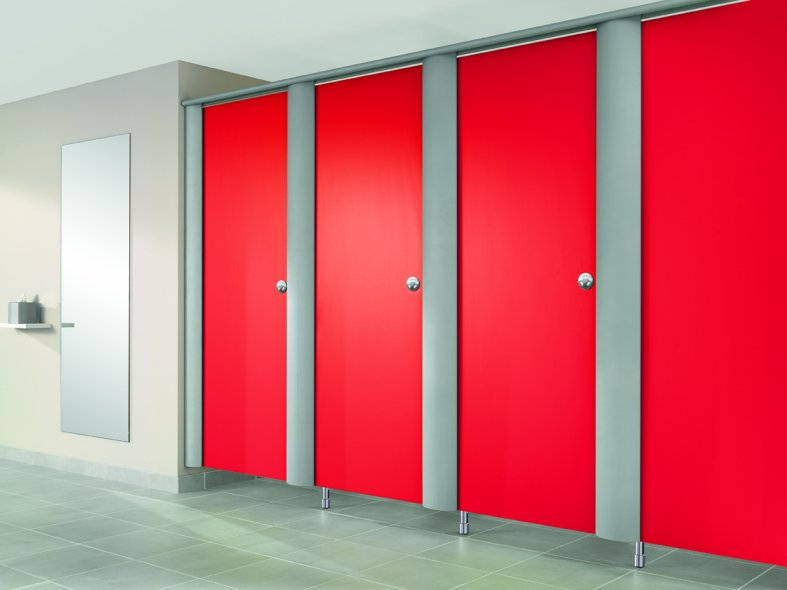 Linea washroom cubicle designcurial for Cubicle design tool
