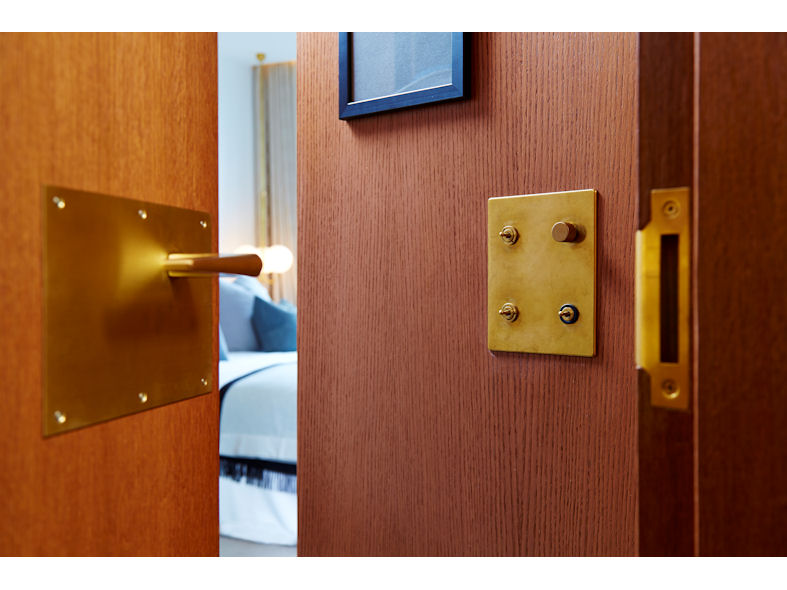 Brass designer light switches and sockets