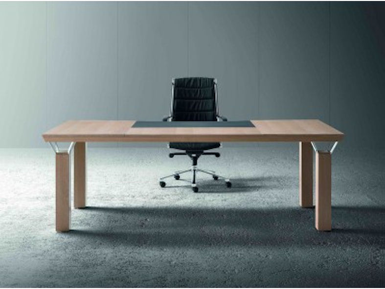 Mascagni Quadra Executive Desk - A Rectangular Wooden Office Desk
