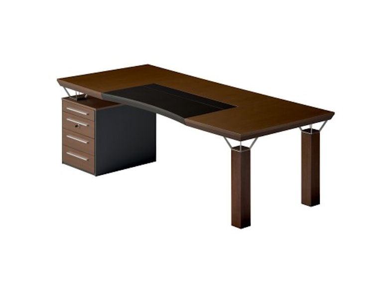 Mascagni Quadra Desk with Drawers - A Rectangular Wooden Office Desk