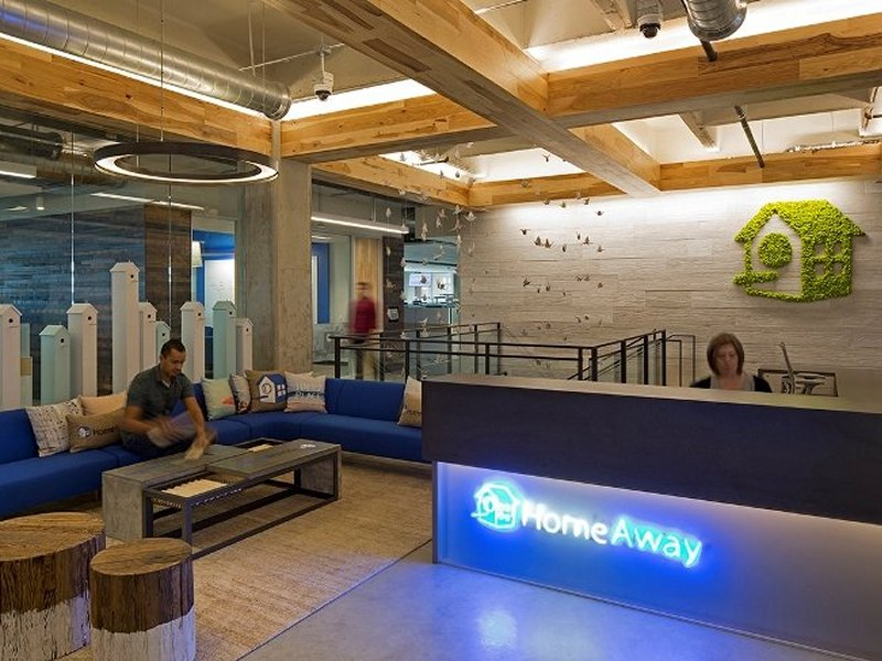 ArmourFX 'Timber-Effect' Panels used for HomeAway Inc