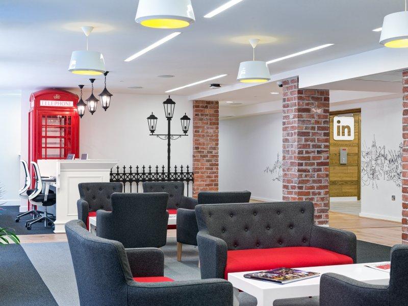 LinkedIn London Office Design Phase 48 DesignCurial Classy London Office Design