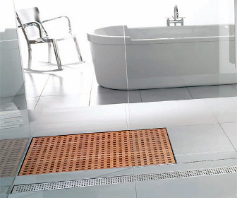 Aco Designs Wooden Shower Grate Drains