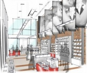 Green room retail to design royal shakespeare company s for Green room retail design