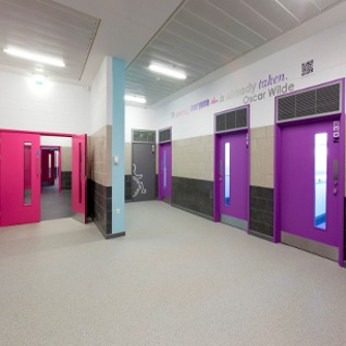 Llanwern High School In Newport Incorporates Altroscreed Quartz 39 Resin Flooring Designcurial