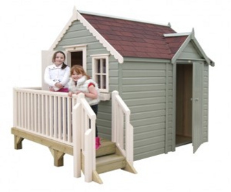 Playhouse company launches new shed playhouse combo for Storage shed playhouse combo plans