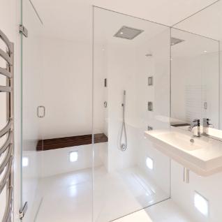 Stephen Ward designs steam room in HI MACS DesignCurial