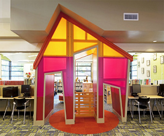 Twin Oaks branch library in Austin wins interior design award from