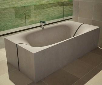 Wave Concrete Bath Tub By DadeDesign